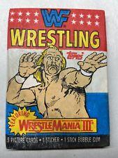 1987 Topps WWF Wrestling Trading Cards Wax Pack, NEVER OPENED Hulk Hogan w Gum