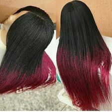 Ombre Red Micro Long Twist Wig!