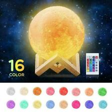 16 Colour Rechargeable Moon Lamp Night Light Dimmable 3D NEW Control LED C1F8