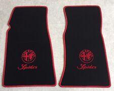 Autoteppich Fußmatten für Alfa Romeo Spider Fastback 1969-1983 rot 2teilig Neu