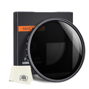 K&F Concept Filter Neutral Density ND2 to ND 400 49/52/55/58/62/67/77/82mm fader