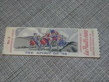 The Spirit Of '76 Woven Bookmark - La Paulls Furs - Kalamazoo MI