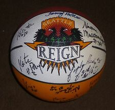 SEATTLE REIGN TEAM SIGNED MINI ABL BASKETBALL 1998-99 SEASON
