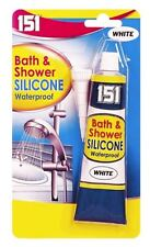 White Bath Shower Basin Waterproof Mould Resistant Silicone Sealant 70g