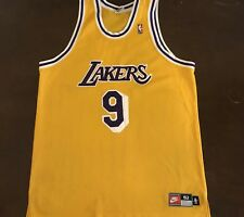 a580b4bf4a8 Rare Vintage Nike NBA Los Angeles Lakers Nick Van Exel Basketball Jersey