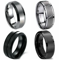 All Sizes 8MM Tungsten Carbide Ring Wedding Engagement Anniversary Graduation