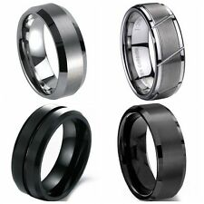 All Sizes 8MM Tungsten Carbide Ring Wedding Engagement Anniversary Graduation