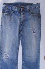 Lee Cooper Men Fashion Jeans Classic Rip Denim Pants Light Blue Boot Cut W30 L33