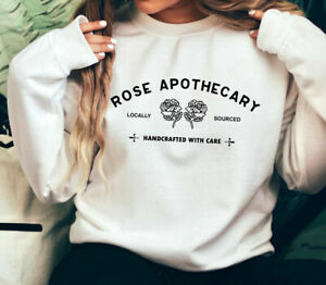 Rose Apothecary Sweatshirt Woman Classic Casual Jumper Long Sleeve Pullover