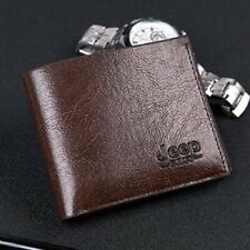 Mens Wallet Brown Leather Pocket Coin Card Money Holder Clutch Bifold Slim Purse