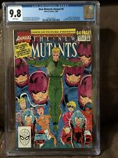 New Mutants Annual #6 CGC 9.8 White pages 1st Shatterstar