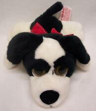 "Russ MARSHMALLOW THE BLACK & WHITE DOG W/ BIG EYES 9"" Plush STUFFED ANIMAL Toy"