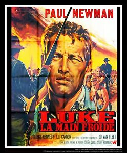COOL HAND LUKE Paul Newman 4x6 ft French Grande Movie Poster Original 1967