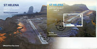 St Helena Aviation Stamps 2016 FDC Airport Project Part II Runway 1v M/S