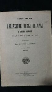 Darwin: Variazione degli animali e delle piante allo stato domestico 1914