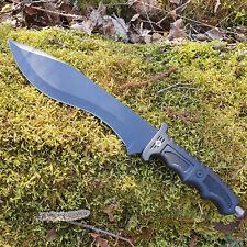 Machete 38 cm Arbeitsmesser Jagdmesser Messer Camping Bowie Haumesser Schwarz