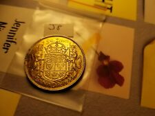1944 Canada Silver 50 Cent Coin Id#j8.