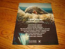 Beyonce 2017 Grammy ad for Album of the Year 'Lemonade, Best Record 'Formation'