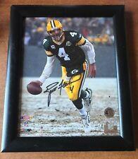 Packers Brett Favre Authentic Signed 8X10 Snow Flip Photo w/ Favre Holo & COA