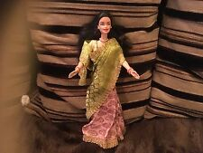 RARE HTF BARBIE DOLLS OF THE WORLD ASIA ASIAN DOLL IN SARI VGCC UNBOXED