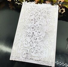 50PC Laser Cut Wedding Invitations Birthday Invitation Cards Kit Personalized