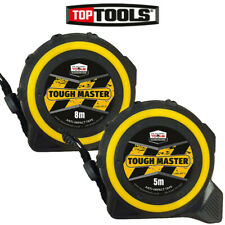 Toughmaster Pocket Tape Measures Metric/Imperial Twin Pack 5M/16ft With 8M/26ft