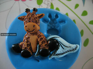 Cute Baby Giraffe & Blanket Silicone Mould/Mold Sugarcraft,Cupcakes,Cake Toppers
