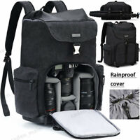CADeN M8 Large Canvas Camera Backpack Bag Case For Canon Nikon Sony SLR DSLR