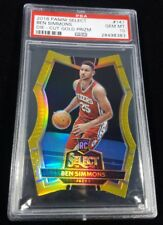 POP 1! 16-17 SELECT BEN SIMMONS RC GOLD DIE CUT PRIZM REFRACTOR PSA 10/10 - 1/1!