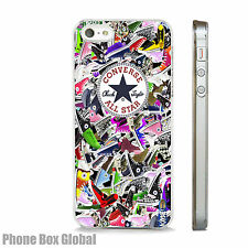Converse Trainers Pumps Art Clear Iphone Case Fits All Models 4 5 6 7 SE Plus,