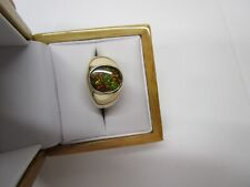 STUNNING ESTATE MEN'S 14 KT GOLD AMMOLITE RING 10.8 GRAMS !!!!!!!