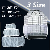 3 Size White Seed Catcher Guard Mesh Bird Cage Case Cover Skirt Traps Cage