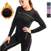 Womens Thermal Shirt Long Sleeve Base Layer Round Neck Top Warm Winter Underwear
