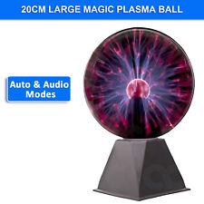 20cm Large Plasma Ball 8 inch Lamp Millennium Thunder Ball Brand New Sound Auto
