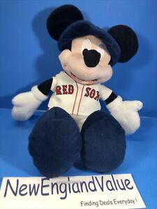"Boston Red Sox Disney Mickey Mouse Plush Stuffed Doll 16"" Northwest Company MLB"