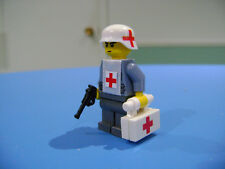 LEGO LOT #105 CUSTOM WW2 WORLD WAR 2 GREY GERMAN MEDIC LUGER RED CROSS HELMET