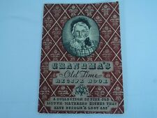 Grandma's Old Time Recipe Book Booklet Compliments Leonard Refrigerator Dealer