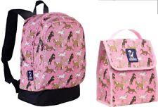 Wildkin Horses in Pink Sidekick Backpack & Munch n Lunch Bag Box Tote Girls