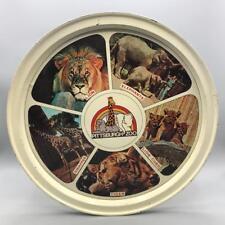 "Vintage Pittsburgh Zoo Souvenir Tin Serving Tray 12-1/2"""