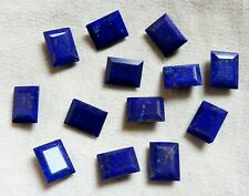 63.00 TOP QUALITY NATURAL LAPIS LAZULI FACETED CUT OCTAGON 6 PC 16X12X6 GEMSTONE
