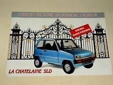 Prospectus Auto Microcar Chatenet Pierre Buffière Voiturette brochure catalogue