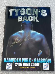 Mike Tyson Signed Boxing Programme Vs Lou Savarese