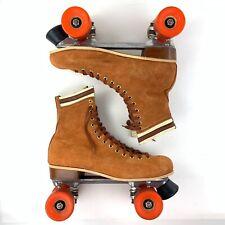 Oberhamer 210 Roller Skates Women's 11 Vintage Burnt Orange Suede