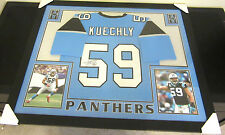 LUKE KUECHLY AUTHENTIC AUTOGRAPHED FRAMED AND MATTED CAROLINA PANTHERS JERSEY