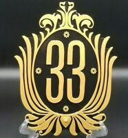 Disney Club 33 Inspired Sign / Plaque (Disney Prop Inspired Replica)