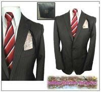 """Tu Sainsburys Mens 2 piece suit Ch40""""S W34"""" L30""""  Brown Pinstripe"""