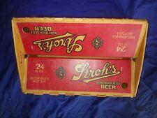 Strohs Bohemian Beer Plastic Coated Cardboard Box Case 24 12oz Bottles Used