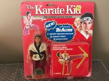 1986 Remco The Karate kid Tri-Action Figure Red Card CHOZEN Very Rare Look Read