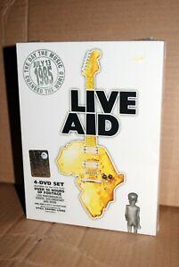 LIVE AID 4 DVD SET NUOVO SIGILLATO LUGLIO 1985 JULY 13