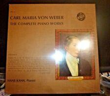 CARL MARIA VON WEBER Complete Piano Works Vol 2, HANS KANN 3LP MINT / SS